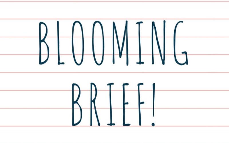 Blooming Brief- May 3rd
