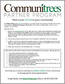 Communitrees Program Flyer 2